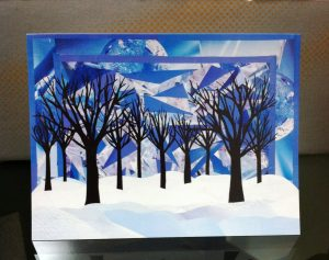 Winter Trees Xmas Card 3