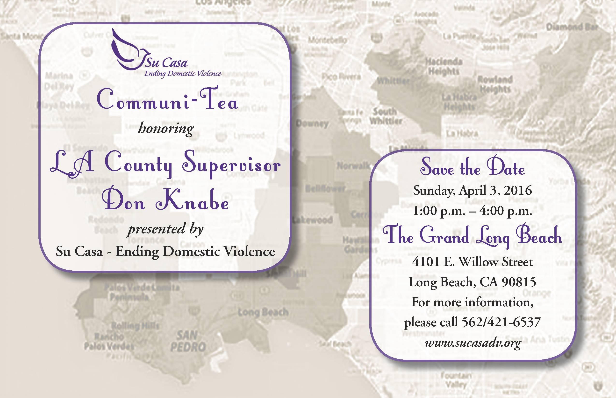 Communi-Tea 2016 Save the Date