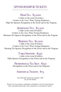 Su Casa Communi-Tea Fundraiser Invitation - April 30th- Sponsorships & Tickets