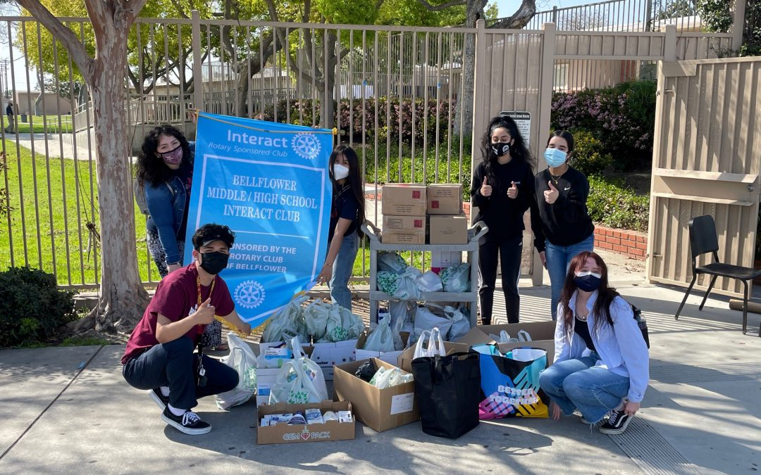 Bellflower High School Interact Club Donation
